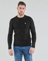 Υφασμάτινα Άνδρας Μπλουζάκια με μακριά μανίκια Emporio Armani EA7 TRAIN CORE SHIELD Black