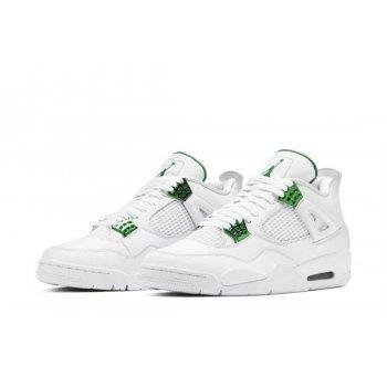 Παπούτσια Ψηλά Sneakers Nike Air Jordan 4 Metallic Green White/Pine Green-Metallic Silver