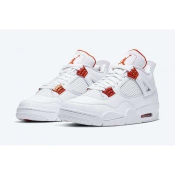 Παπούτσια Ψηλά Sneakers Nike Air Jordan 4 Metallic Orange White/Total Orange