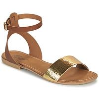 Παπούτσια Γυναίκα Σανδάλια / Πέδιλα Betty London GIMY Camel / Gold