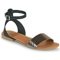 Παπούτσια Γυναίκα Σανδάλια / Πέδιλα Betty London GIMY Black / Acier