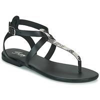 Παπούτσια Γυναίκα Σανδάλια / Πέδιλα Betty London ORIOUL Black / Grey