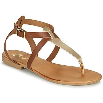 Παπούτσια Γυναίκα Σανδάλια / Πέδιλα Betty London ORIOUL Camel / Gold