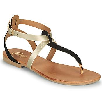 Παπούτσια Γυναίκα Σανδάλια / Πέδιλα Betty London OVERNE Black / Gold