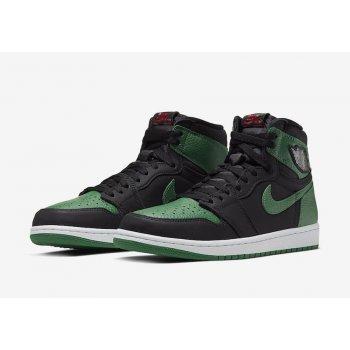 Παπούτσια Ψηλά Sneakers Nike Air Jordan 1 Pine Green 2.0 Black/White-Pine Green-Gym Red