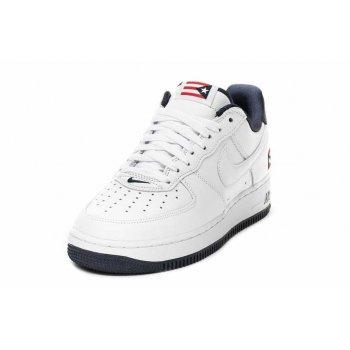 Παπούτσια Χαμηλά Sneakers Nike Air Force 1 Low Puerto Rico True White/True White-Obsidian-Comet Red