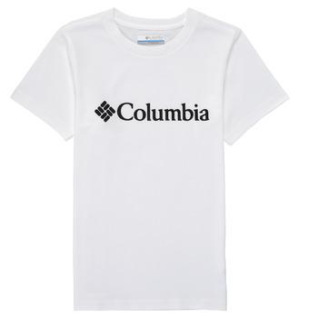 Υφασμάτινα Αγόρι T-shirt με κοντά μανίκια Columbia CSC BASIC LOGO YOUTH Άσπρο