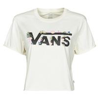 Υφασμάτινα Γυναίκα T-shirt με κοντά μανίκια Vans BLOZZOM ROLL OUT Άσπρο