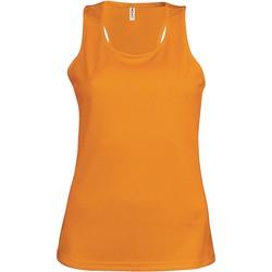 Υφασμάτινα Γυναίκα Αμάνικα / T-shirts χωρίς μανίκια Proact Débardeur femme  Sport orange