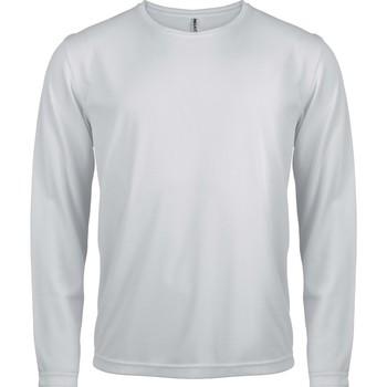 Υφασμάτινα Άνδρας Μπλουζάκια με μακριά μανίκια Proact T-Shirt manches longues  Sport blanc blanc