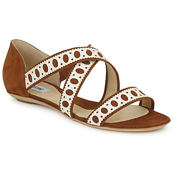Παπούτσια Γυναίκα Σανδάλια / Πέδιλα Moschino DELOS SAND Camel / Ivory