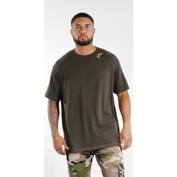 Υφασμάτινα Άνδρας T-shirt με κοντά μανίκια Sixth June T-shirt  logo épaule kaki