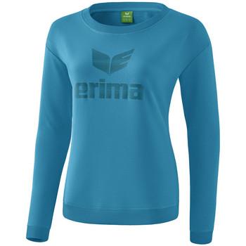 Υφασμάτινα Γυναίκα Μπλουζάκια με μακριά μανίκια Erima Sweat-shirt femme  Essential bleu clair/bleu