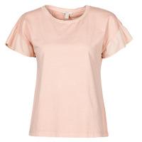Υφασμάτινα Γυναίκα T-shirt με κοντά μανίκια Esprit T-SHIRTS Ροζ