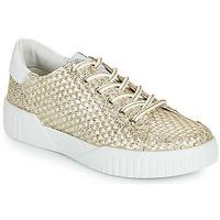 Παπούτσια Γυναίκα Χαμηλά Sneakers Café Noir JANISA Άσπρο / Gold