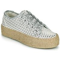 Παπούτσια Γυναίκα Χαμηλά Sneakers Café Noir DROMA Άσπρο / Silver