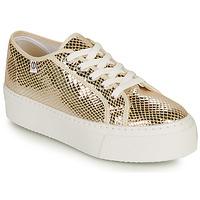 Παπούτσια Γυναίκα Χαμηλά Sneakers Yurban SUPERTELA Gold
