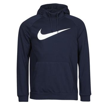 Υφασμάτινα Άνδρας Φούτερ Nike DF HDIE PO SWSH Μπλέ / Άσπρο