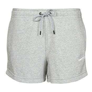 Υφασμάτινα Γυναίκα Σόρτς / Βερμούδες Nike NSESSNTL FLC HR SHORT FT Grey / Άσπρο
