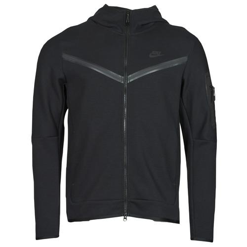 Υφασμάτινα Άνδρας Σπορ Ζακέτες Nike NSTCH FLC HOODIE FZ WR Black