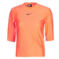 Υφασμάτινα Γυναίκα T-shirt με κοντά μανίκια Nike NSICN CLSH TOP SS MESH Orange