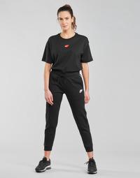 Υφασμάτινα Γυναίκα Φόρμες Nike NSMLNESSNTL FLC MR JGGR Black / Άσπρο