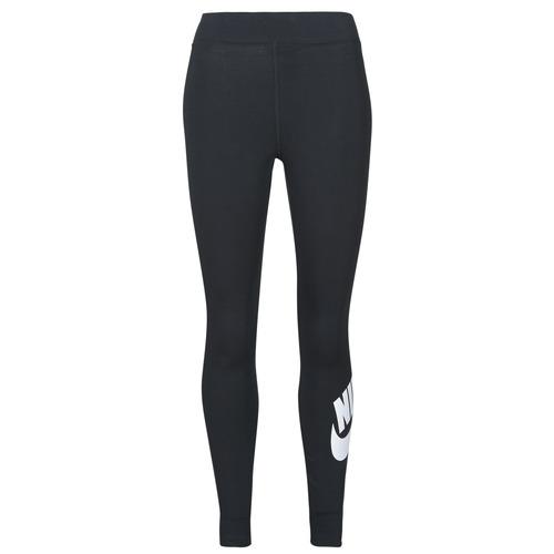 Υφασμάτινα Γυναίκα Κολάν Nike NSESSNTL GX HR LGGNG FTRA Black / Άσπρο