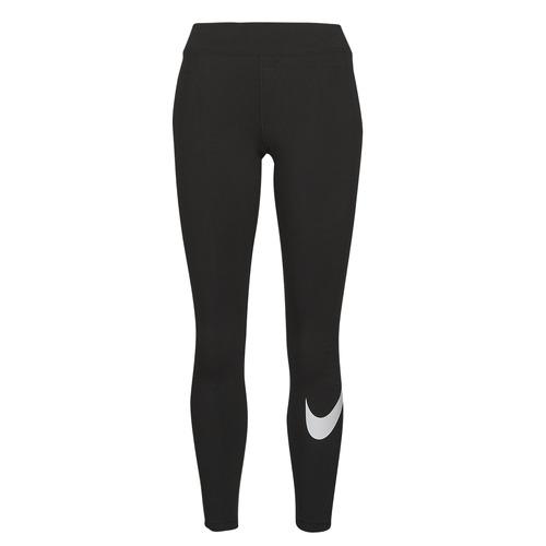 Υφασμάτινα Γυναίκα Κολάν Nike NSESSNTL GX MR LGGNG SWSH Black / Άσπρο