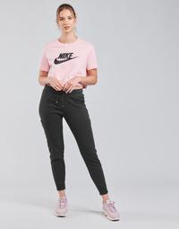 Υφασμάτινα Γυναίκα Φόρμες Nike NSAIR PANT FLC MR Black / Άσπρο