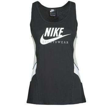 Υφασμάτινα Γυναίκα Αμάνικα / T-shirts χωρίς μανίκια Nike NSHERITAGE TTOP HBR Black / Grey / Άσπρο