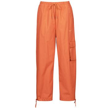 Υφασμάτινα Γυναίκα Φόρμες Nike NSICN CLASH PANT CANVAS HR Brown / Orange