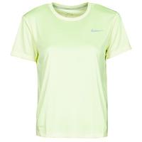 Υφασμάτινα Γυναίκα T-shirt με κοντά μανίκια Nike MILER TOP SS Green / Grey