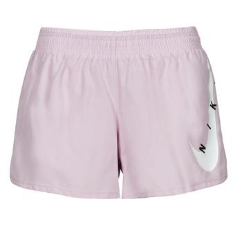 Υφασμάτινα Γυναίκα Σόρτς / Βερμούδες Nike SWOOSH RUN SHORT Violet / Άσπρο