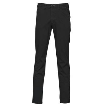 Υφασμάτινα Άνδρας Παντελόνια Chino/Carrot Selected SLHSLIM-MILES FLEX Black