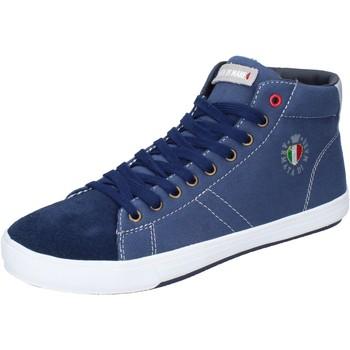 Παπούτσια Άνδρας Ψηλά Sneakers Armata Di Mare Sneakers Tela Camoscio Blu