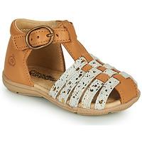 Παπούτσια Κορίτσι Σανδάλια / Πέδιλα Citrouille et Compagnie RINE Camel / Camaieu / Gold