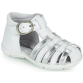 Παπούτσια Κορίτσι Σανδάλια / Πέδιλα Citrouille et Compagnie RINE Άσπρο / Argenté
