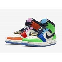 Παπούτσια Χαμηλά Sneakers Nike Air Jordan 1 Mid Fearless x Melody Ehsani White/Black/Half Blue/Habanero Red
