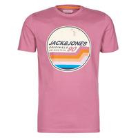 Υφασμάτινα Άνδρας T-shirt με κοντά μανίκια Jack & Jones JORTYLER Ροζ