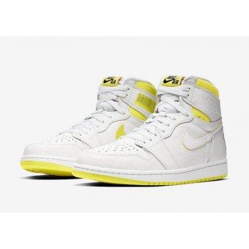 Παπούτσια Ψηλά Sneakers Nike Air Jordan 1 High First Class Flight White/Yellow