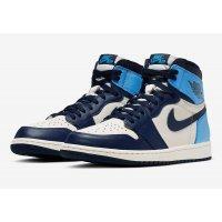 Παπούτσια Χαμηλά Sneakers Nike Air Jordan 1 High Obsidian Sail/Obsidian-University Blue