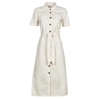 Υφασμάτινα Γυναίκα Μακριά Φορέματα Betty London ODRESS Ecru