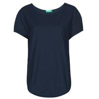 Υφασμάτινα Γυναίκα T-shirt με κοντά μανίκια Benetton FOLLIA Μπλέ