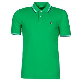 Υφασμάτινα Άνδρας Πόλο με κοντά μανίκια  Benetton 3WG9J3181-108 Green