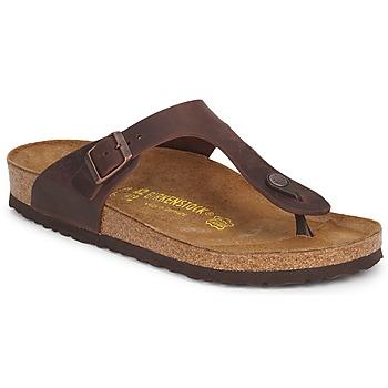 Παπούτσια Γυναίκα Σαγιονάρες Birkenstock GIZEH PREMIUM Μόκα
