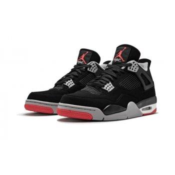 Παπούτσια Ψηλά Sneakers Nike Air Jordan 4 Bred Black/Cement Grey-Summit White-Fire Red