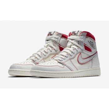 Παπούτσια Ψηλά Sneakers Nike Air Jordan 1 Phantom Sail/Black-Phantom-University Red