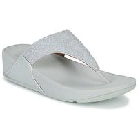 Παπούτσια Γυναίκα Σαγιονάρες FitFlop LULU SHIMMER TOE POST Άσπρο