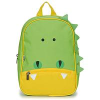 Τσάντες Παιδί Σακίδια πλάτης Citrouille et Compagnie CROCODILE GREEN Green / Yellow