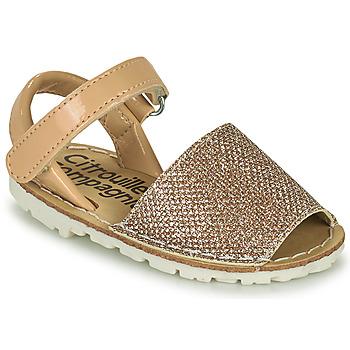 Παπούτσια Κορίτσι Σανδάλια / Πέδιλα Citrouille et Compagnie SQUOUBEL Beige